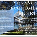 """Cartel """"verano de economia en El Retiro"""""""